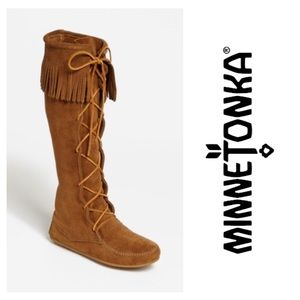 🆕Minnetonka Knee High Moccasin Boots